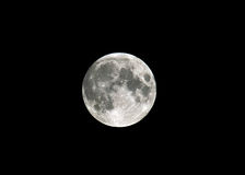 Moon. Full Moon In Isolation Against Black Sky Royalty Free Stock Photos