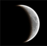 The moon. Isolated on blac ck Stock Photo