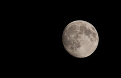 Moon. In a completely dark sky Royalty Free Stock Images