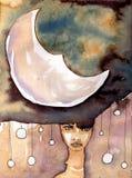 Moon, stock illustration
