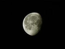 The Moon. In the black sky stock photo