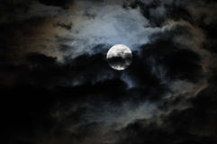 Moon. The Full Moon with Clouds Stock Photography