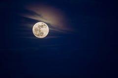 Moon. Bright full moon on night sky Stock Photos