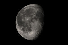 Moon. In a black background stock images