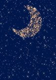 Moon. Night sky moon and stars Stock Image