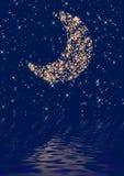Moon. Night sky moon and stars Stock Image
