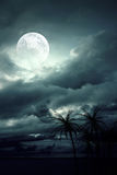 Moon. Beautiful, colorful and fantastic scenery stock illustration