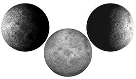 Moon. Scene three moons Executed in 3D Stock Image