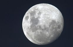 Moon. Shot at a night Royalty Free Stock Photography