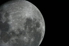 Moon. By the telescope on the summer night Royalty Free Stock Images
