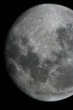 Moon. Summer night and a full moon by the telescope Stock Photography