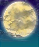 Moon. An illustration of a full moon royalty free illustration