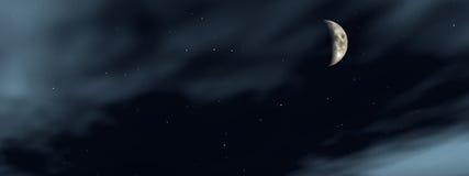 Moon 6 royaltyfri illustrationer