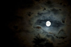 Moon. Beautiful moonlit night similar to the oil painting color Stock Photos