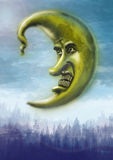 Moon. This is my illustration of wicked moon Royalty Free Stock Image