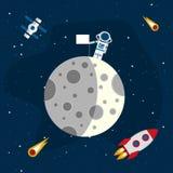 Moon1-03 Στοκ εικόνα με δικαίωμα ελεύθερης χρήσης