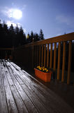 Moon Above Deck. Here is the moon. above the deck. hope you enjoy it much Stock Photography