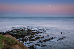 Moon above the North Sea Royalty Free Stock Image