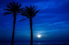 Moon in Agadir, Morocco stock image
