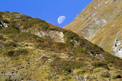 Moon in the Alps Royalty Free Stock Photography