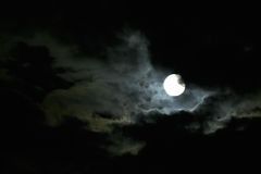 Moon At Night Sky Stock Images
