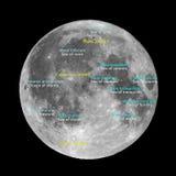 Moon atlas Royalty Free Stock Photos