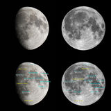 Moon atlas Stock Images