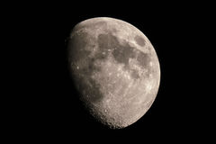 Moon, at 02 Aug 2017,  9 pm. From Greece Royalty Free Stock Photos