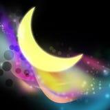 Moon and aura illustration Stock Photos