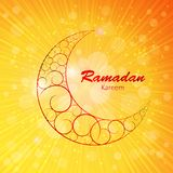 Moon Background for Muslim Community Festival Stock Photos