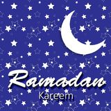 Moon Background for Muslim Community Festival Royalty Free Stock Photo