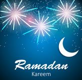 Moon Background for Muslim Community Festival Royalty Free Stock Photography