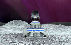 Moon base Royalty Free Stock Photos