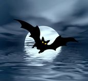 Moon and bat Royalty Free Stock Photos