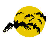 The moon and bats Royalty Free Stock Photography