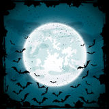 Moon and bats Stock Image