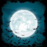 Moon and bats Stock Image