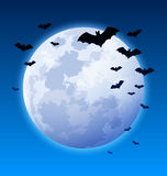 Moon and bats Stock Photos