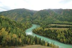 Moon Bay in Xinjiang royalty free stock photo