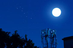 Moon and the Big Dipper Stock Photo