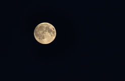 Moon On black background . Royalty Free Stock Photography