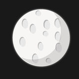 Moon. The moon on the black background and a little light royalty free illustration