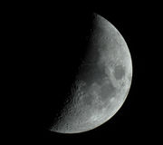 Moon. Black and white moon closeup with nikon Royalty Free Stock Images