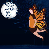 Moon blue fairy Stock Images