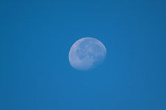 Moon and Blue Sky Stock Photography
