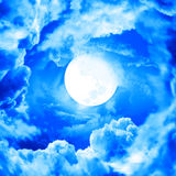 Moon in blue sky Royalty Free Stock Images