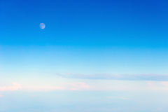 Moon on blue sky. Background Stock Images