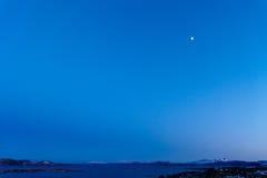 Moon in Blue Sky Stock Photo