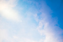 The moon in blue sky Royalty Free Stock Image