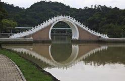 Moon Bridge of Taipei, Taiwan. Moon Bridge, a famouse bridge in center Taipei, Taiwan Royalty Free Stock Images